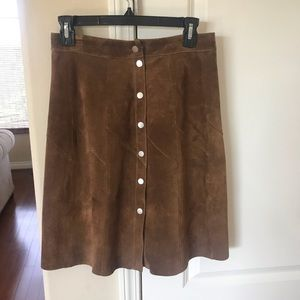 A.L.C. Suede skirt.